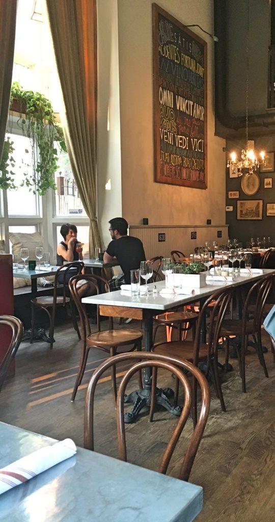Satis Bistro in Jersey City interior | Satis Bistro restaurant review | foodwithaview.com