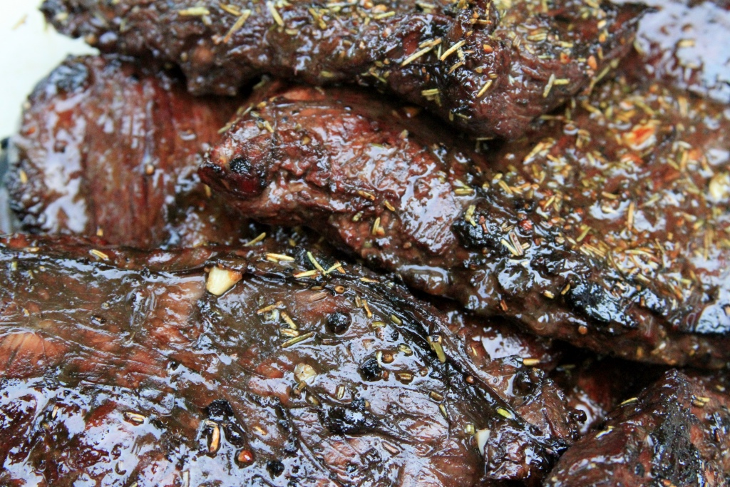 Balsamic marinated skirt steak with dried rosemary | foodwithaview.com