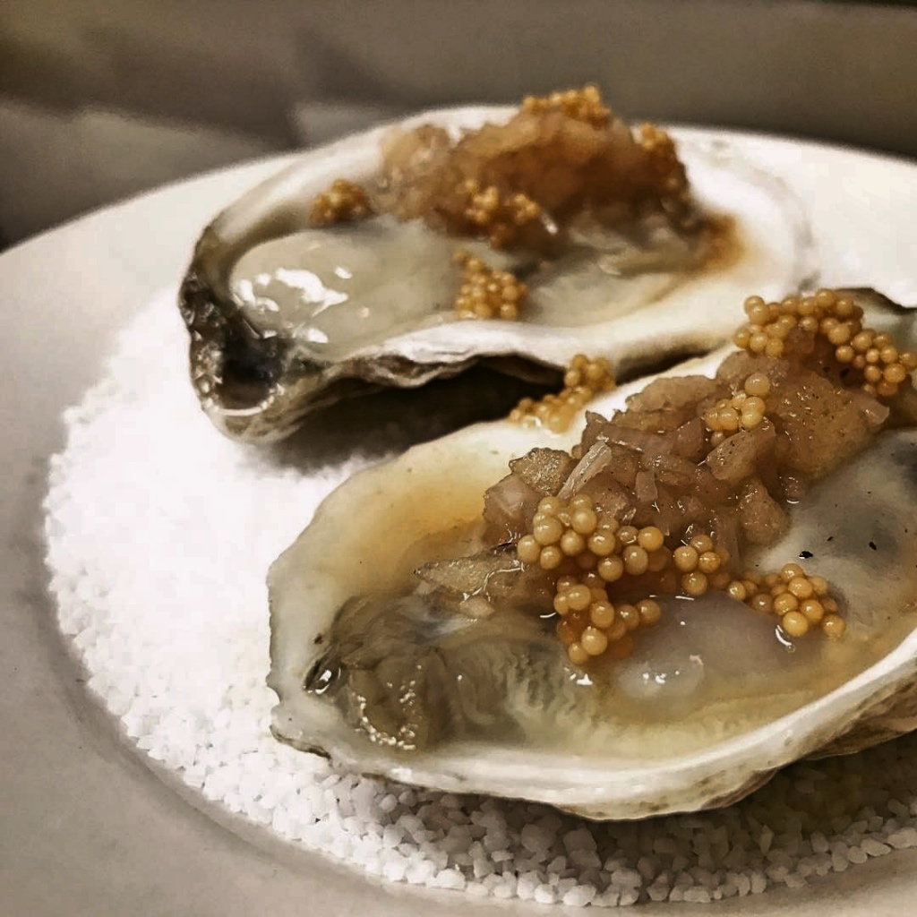 Oysters on a bed of salt | 100 Steps on foodwithaview.com | photo by localrootscranford