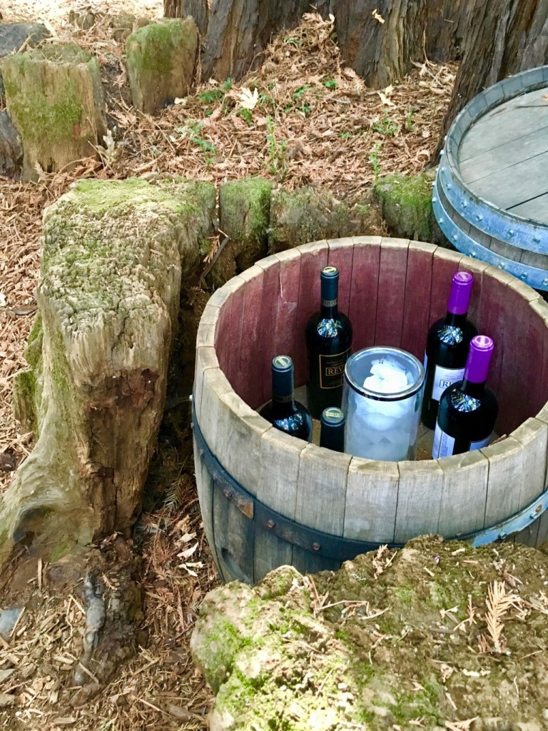 wine barrel made into a wine chiller | napa valley vineyards | adventures in wine country on foodwithaview.com