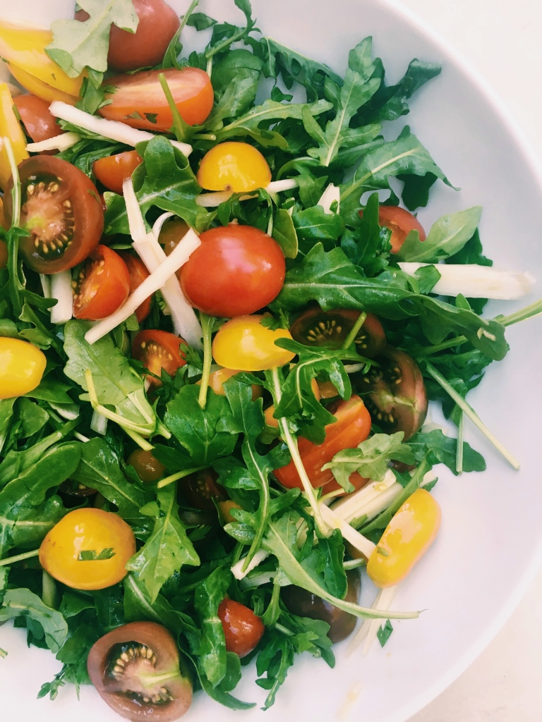 Tiny Tomato Salad with Champagne Vinaigrette | Summer Tomato Salads on foodwithaview.com