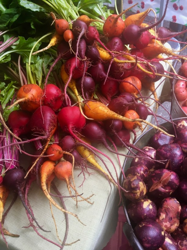 Colorful beets for sale | new jersey farmers markets | foodwithaview.com