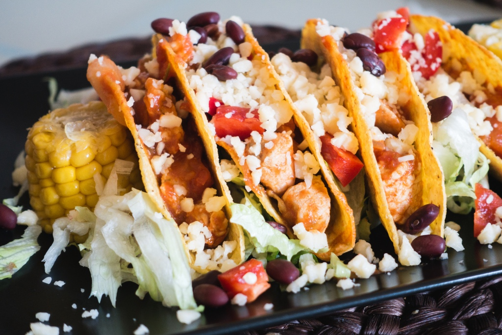 Chicken hard shell tacos with cheese and corn | photo by foodiesfeed | | New Jersey mexican restaurants | foodwithaview.com