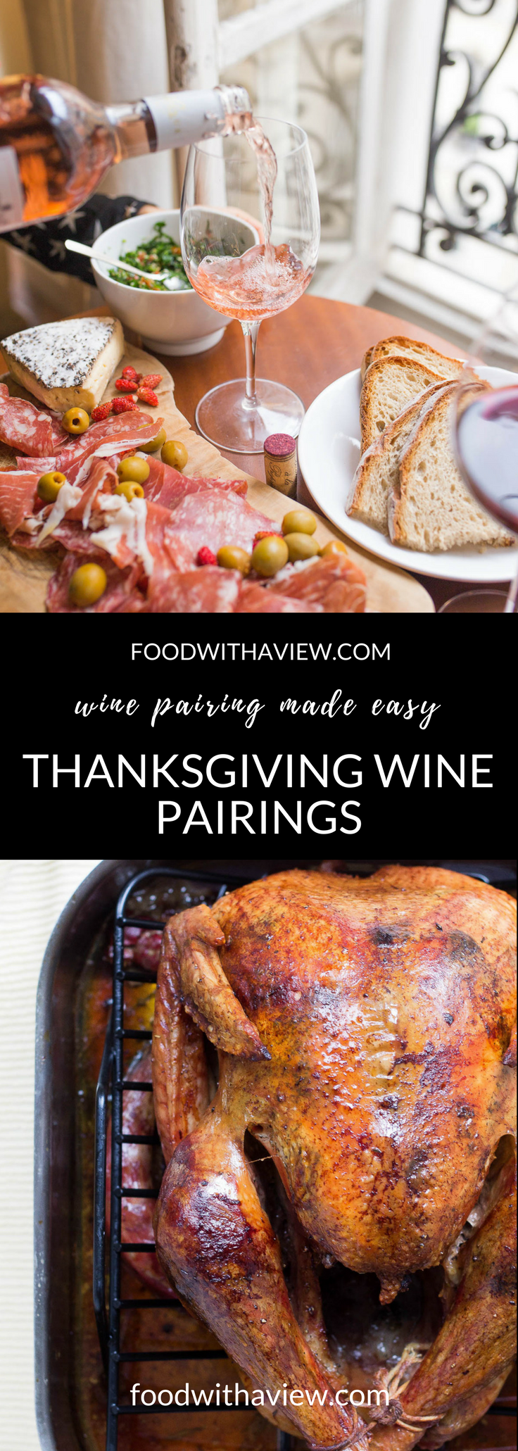 How to pair food and wine for Thanksgiving Day on foodwithaview.com
