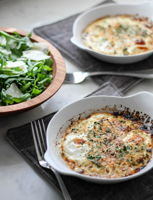 Herbed baked eggs for a simple meal   The best of Barefoot Contessa tips lessons and recipes   cooking and entertaining with foodwithaview.com