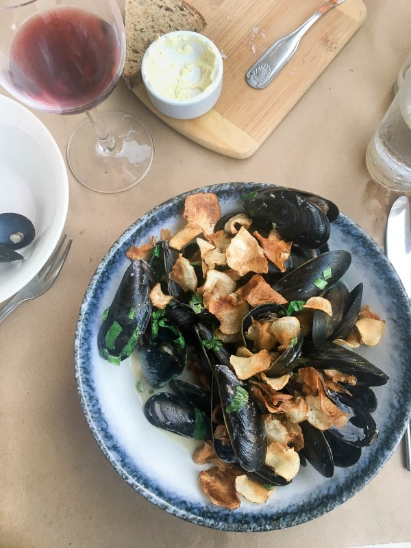 Green curry mussels at The Kitchen Step Jersey City NJ | Favorite food photos | Happy anniversary foodwithaview.com