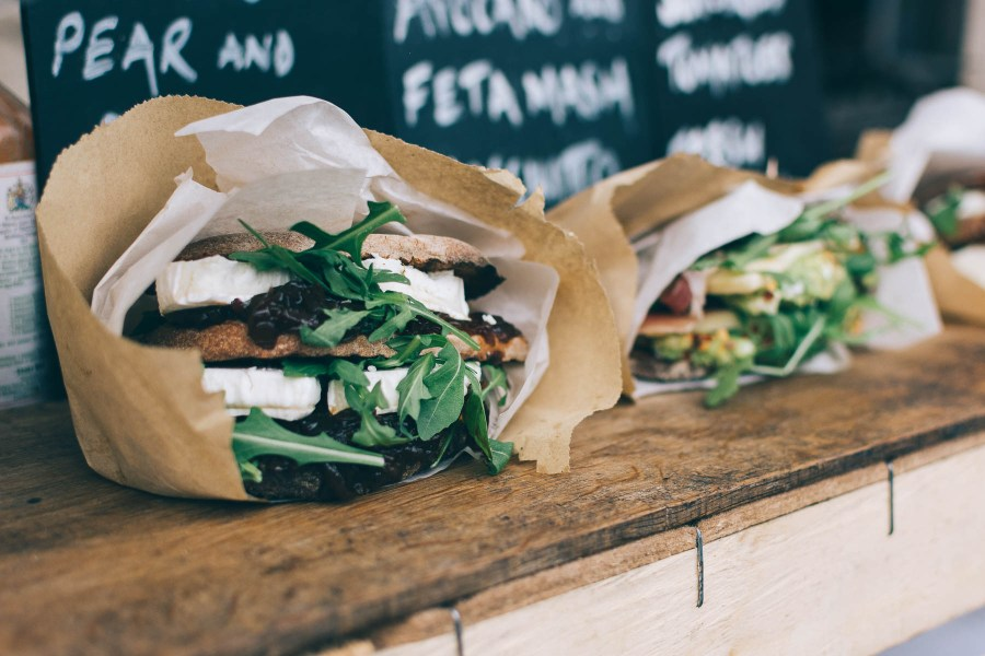 Pretty sandwiches on a wooden board | photo by foodiesfeed | Favorite food photos | Happy anniversary foodwithaview.com