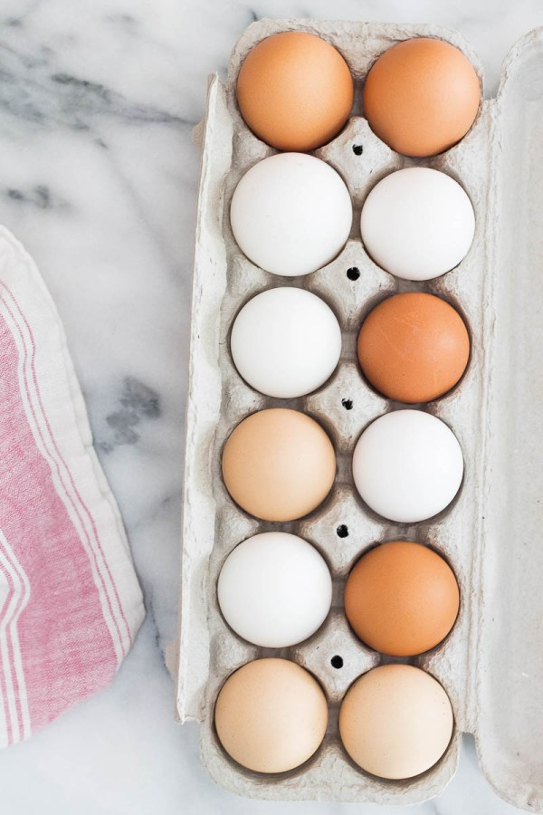 One dozen mixed color eggs for healthy eating in the new year | food goals for 2018 | photo by alison marras | foodwithaview.com