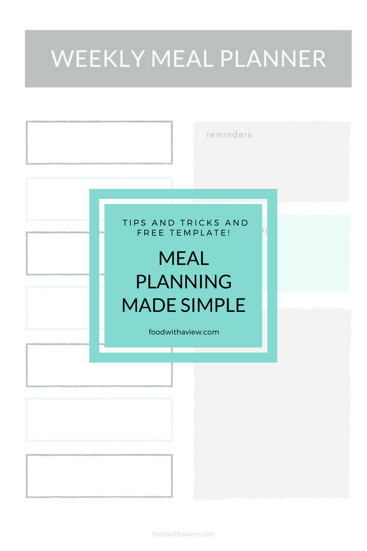 Need a super simple template for weekly meal planning? Completely free printable - no email signup required. Plus plenty of meal plannings strategies and lessons learned to get you started, no matter what your meal planning goals. #mealplanning #menuplanning