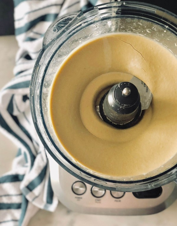 Homemade hummus in the food processor   Jerusalem: A Cookbook Review   foodwithaview.com