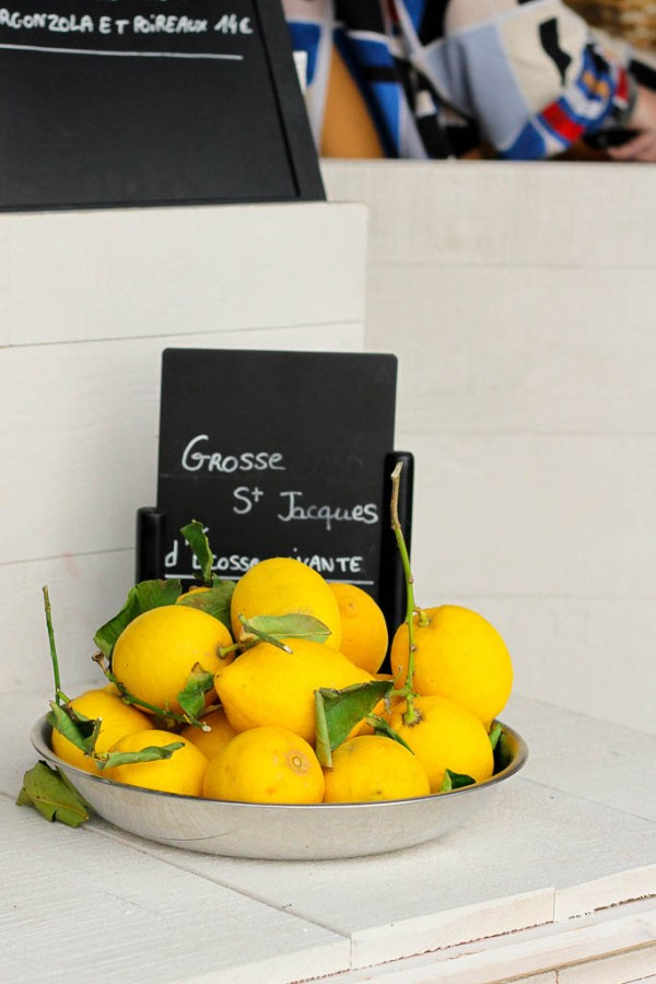 What to eat on a trip to Paris   Restaurants, cafes, food markets and more   Lemons at a Paris street market   Culinary adventures in Paris on foodwithaview.com