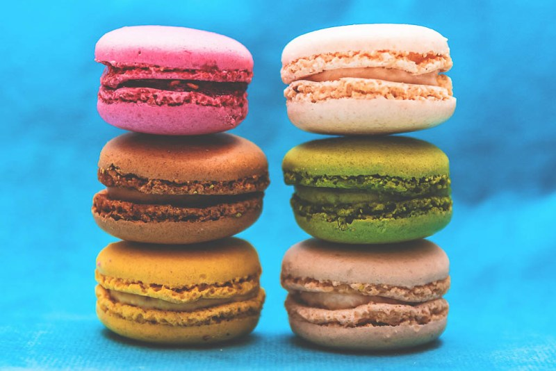 Macaron rainbow | Palmers Sweetery in Maplewood NJ | Black-owned restaurants | foodwithaview.com