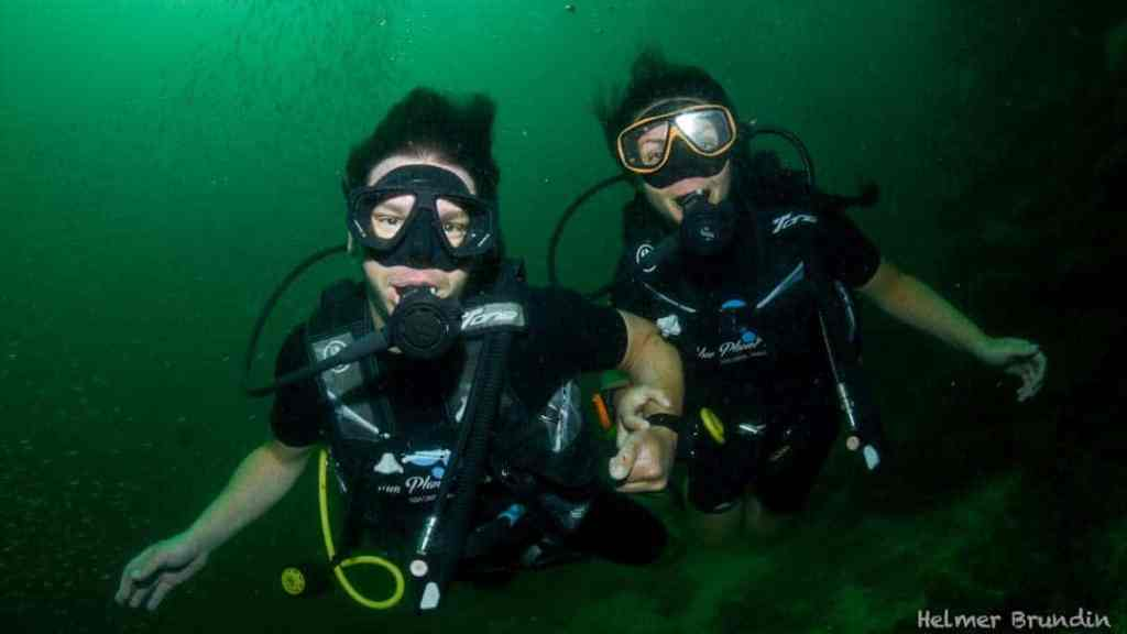 Scott and Taylor Woodworth SCUBA diving off the coast of Koh Lanta, Thailand