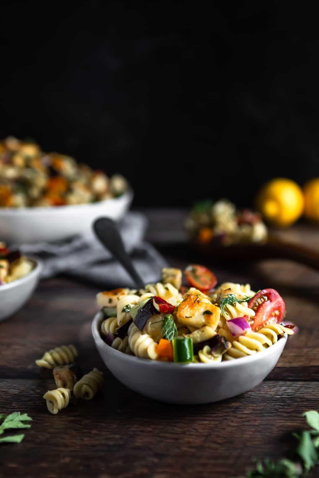Halloumi Pasta Salad