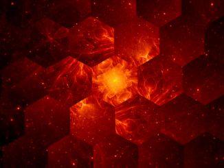 Graphene grid abstract background, nanotechnology