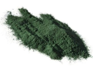 Spirulina powder which is a natural blue-green colour for food.