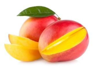 21320934 - mango fruit isolated on white background