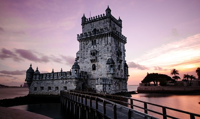 Belem Tower in Lisbon. Capital city for great Portuguese cuisine.