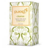 A box of Pukka Cleanse tea.