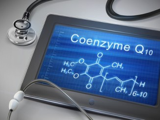 34892565 - coenzyme q10 words display on tablet over table