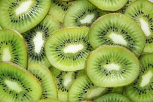 Kiwi fruit in full profile