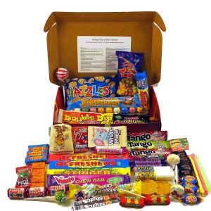 Bumper Retro Sweets Selection Luxury Red Gift Box With A Gold Bow; Crammed Full Of The Most Iconic Sweets From Your Childhood Sweetshop