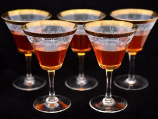 Liqueurs in a glass