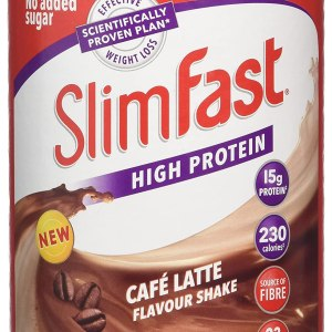 Slimfast High Protein Powder Meal Replacement Diet Supplement, Cafe Latte, 12 Servings