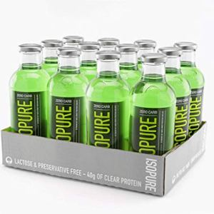 Isopure 40g Protein, Zero Carb Ready-to-Drink- Apple Melon, 20 Ounce (Pack of 12)