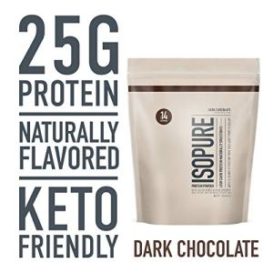 Isopure Low Carb Naturally Sweetened & Flavored 25g Protein, GMO Free, Keto Friendly Protein Powder, 100% Whey Protein Isolate, Flavor: Dark Chocolate, 1 Pound
