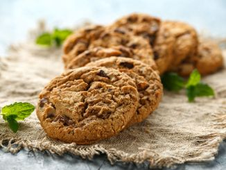 Delicious Double chocolate chip cookies with mint