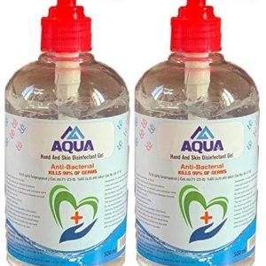 500ml Hand Sanítíser Cleansing Gel 70% Alc, Kills 99% Germs Instantly, Pump Hand Wash Gel - UK Stock (2x 500ml)