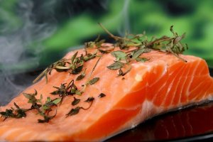 Salmon, a source of good quality fish oils