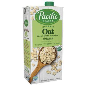 Pacific Foods Organic Oat Original Plant-Based Milk, 32oz, 12-pack (06570)