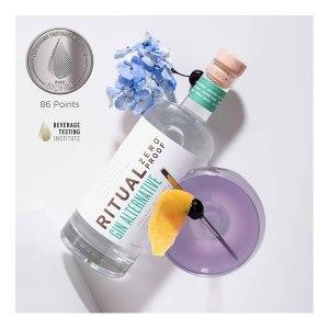 RITUAL ZERO PROOF Gin Alternative   Award-Winning Non-Alcoholic Spirit   25.4 Fl Oz (750ml)   Zero Calories   Keto, Paleo & Low Carb Diet Friendly   Make Delicious Alcohol Free Cocktails