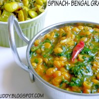 CHANNA PALAK / SPINACH - BENGAL GRAM DAL - DAL RECIPE