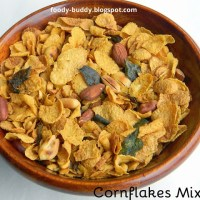 CORNFLAKES MIXTURE IN MICROWAVE / CORNFLAKES SNACK INDIAN STYLE