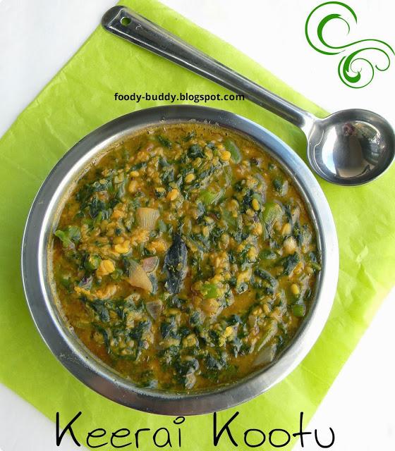 Keerai Kootu Recipe | Thandu Keerai Kootu