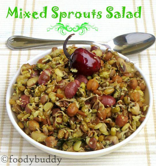 Sprouted Navadhanya Sundal Recipe