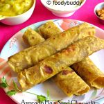 avocado flax seed chapathi