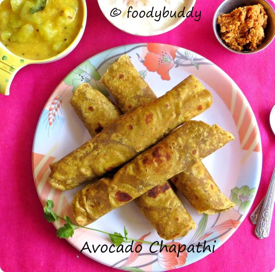 Avocado flax seed chapathi Recipe