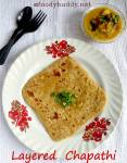 Soft Layered Chapathi Recipe / How to Make Layered Paratha