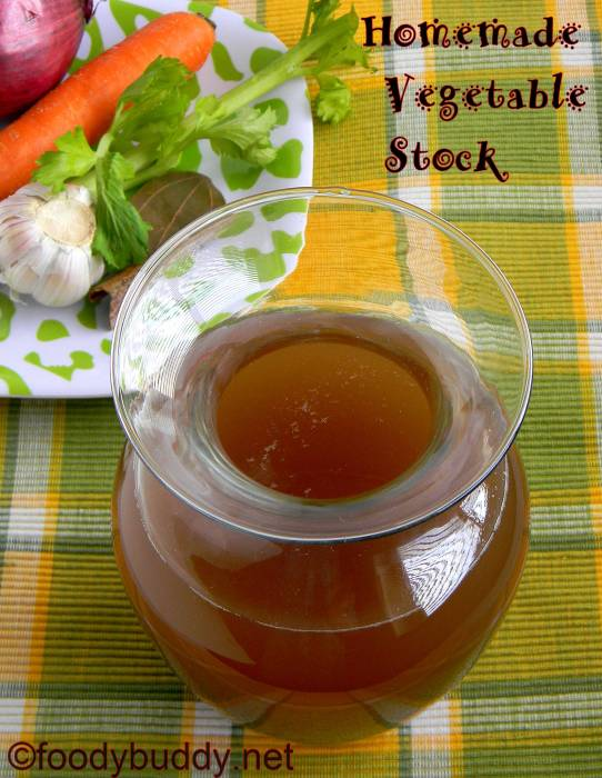 for Homemade Vegetable Stock