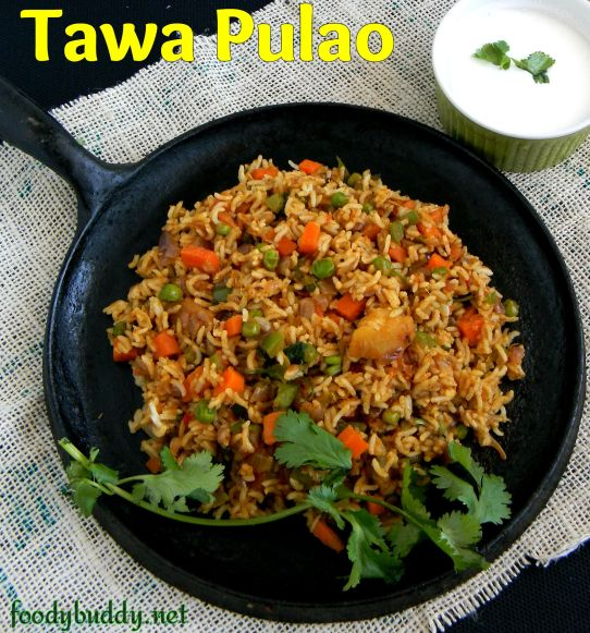 easy tawa pulao recipe