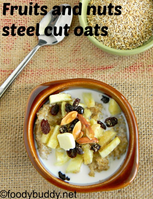 fruits and nuts steel cut oats