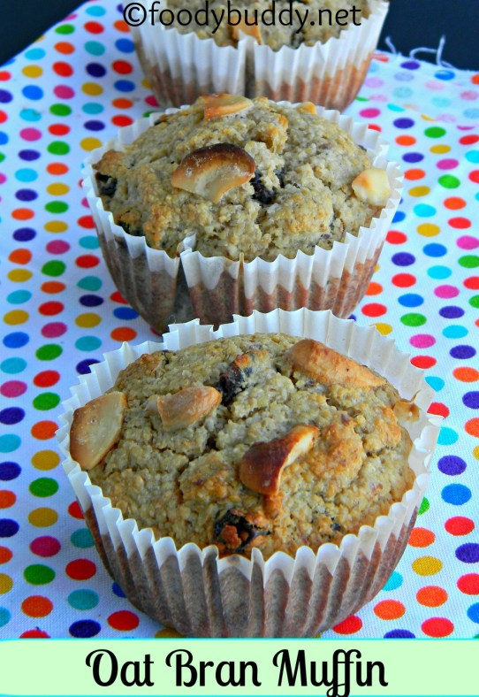 oat bran banana muffins recipe