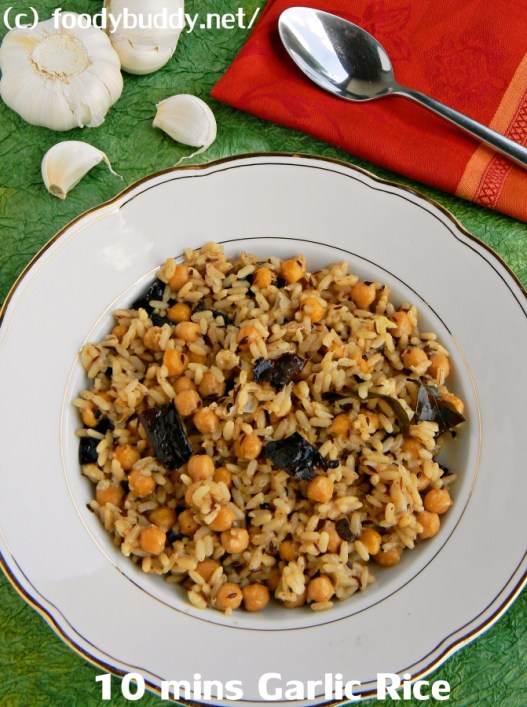 10 mins Garlic Rice