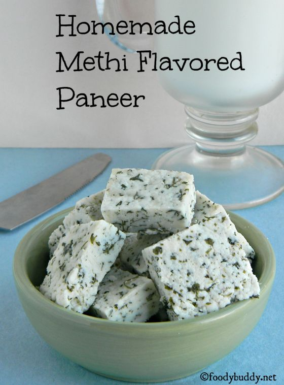 homemade methi flavored paneer