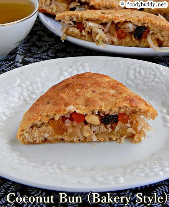 eggless coconut bun bakery style