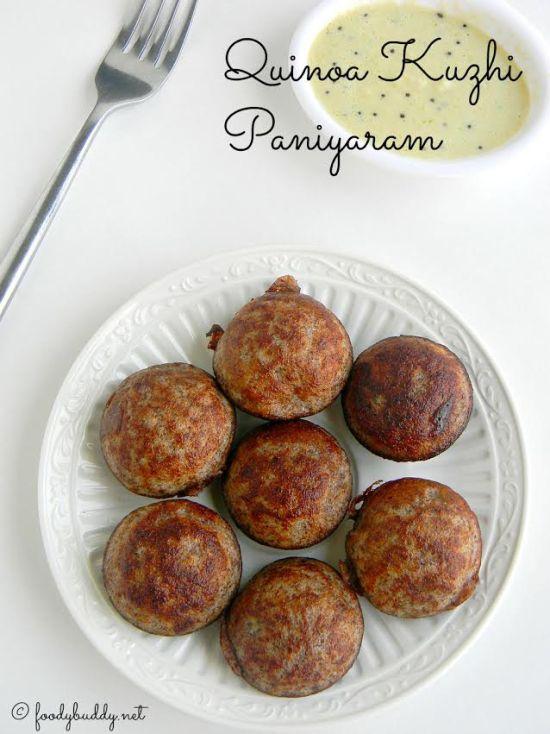 quinoa kuzhi paniyaram recipe